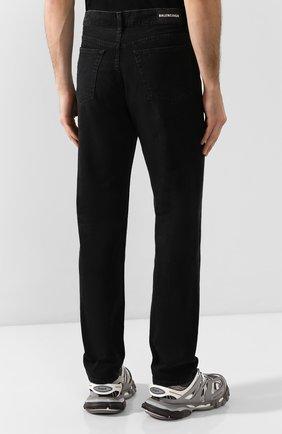 Мужские джинсы BALENCIAGA черного цвета, арт. 600382/TDW16 | Фото 4
