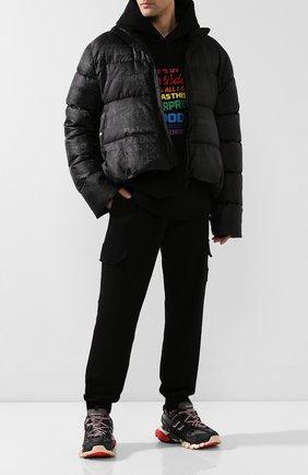 Мужские комбинированные кроссовки track BALENCIAGA черного цвета, арт. 542023/W1GB6 | Фото 2