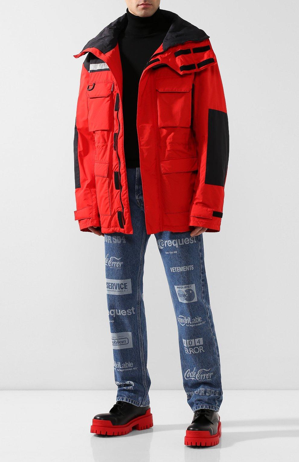 Мужские кожаные ботинки strike BALENCIAGA черного цвета, арт. 589338/WA967   Фото 2 (Каблук высота: Высокий; Мужское Кросс-КТ: Ботинки-обувь; Материал внутренний: Натуральная кожа; Подошва: Массивная)