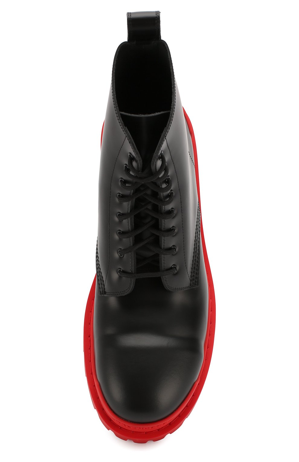 Мужские кожаные ботинки strike BALENCIAGA черного цвета, арт. 589338/WA967   Фото 5 (Каблук высота: Высокий; Мужское Кросс-КТ: Ботинки-обувь; Материал внутренний: Натуральная кожа; Подошва: Массивная)