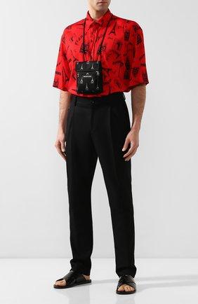 Мужские кожаные шлепанцы BALENCIAGA черного цвета, арт. 597148/WA9D5 | Фото 2