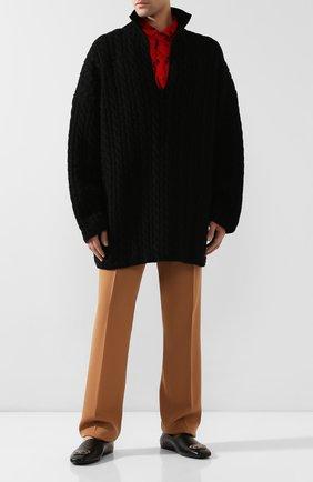 Мужские кожаные лоферы cosy bb BALENCIAGA черного цвета, арт. 601255/WA721 | Фото 2