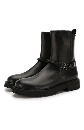 Мужские кожаные сапоги BOTTEGA VENETA черного цвета, арт. 578286/VIFH0 | Фото 1