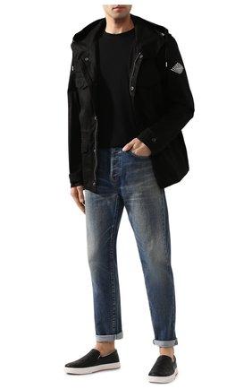 Мужская хлопковая футболка BOTTEGA VENETA черного цвета, арт. 609305/VF1U0 | Фото 2 (Материал внешний: Хлопок; Длина (для топов): Стандартные; Рукава: Короткие; Принт: Без принта; Стили: Кэжуэл)