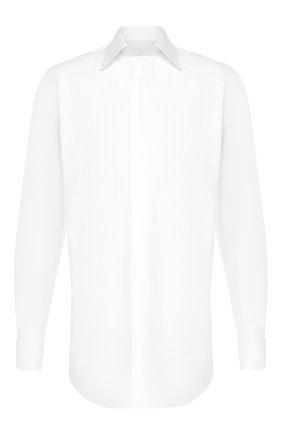 Мужская хлопковая сорочка BRIONI белого цвета, арт. RCSU1I/0Z022 | Фото 1