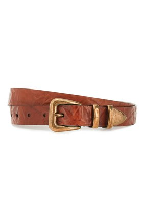 Мужской кожаный ремень BRUNELLO CUCINELLI коричневого цвета, арт. MAUML253 | Фото 1