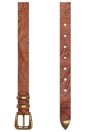 Мужской кожаный ремень BRUNELLO CUCINELLI коричневого цвета, арт. MAUML253 | Фото 2