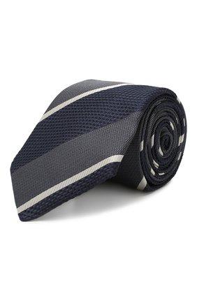 Мужской шелковый галстук BRUNELLO CUCINELLI синего цвета, арт. MQ8330018 | Фото 1
