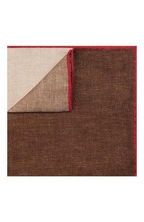 Мужской шелковый платок BRUNELLO CUCINELLI коричневого цвета, арт. MQ8410091 | Фото 1