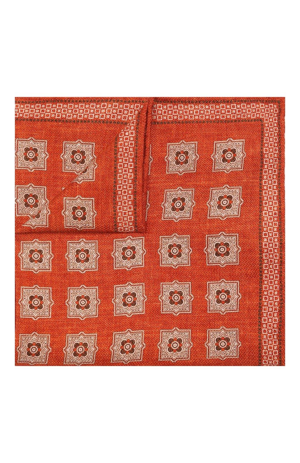 Мужской шелковый платок BRUNELLO CUCINELLI оранжевого цвета, арт. MQ8440091 | Фото 1
