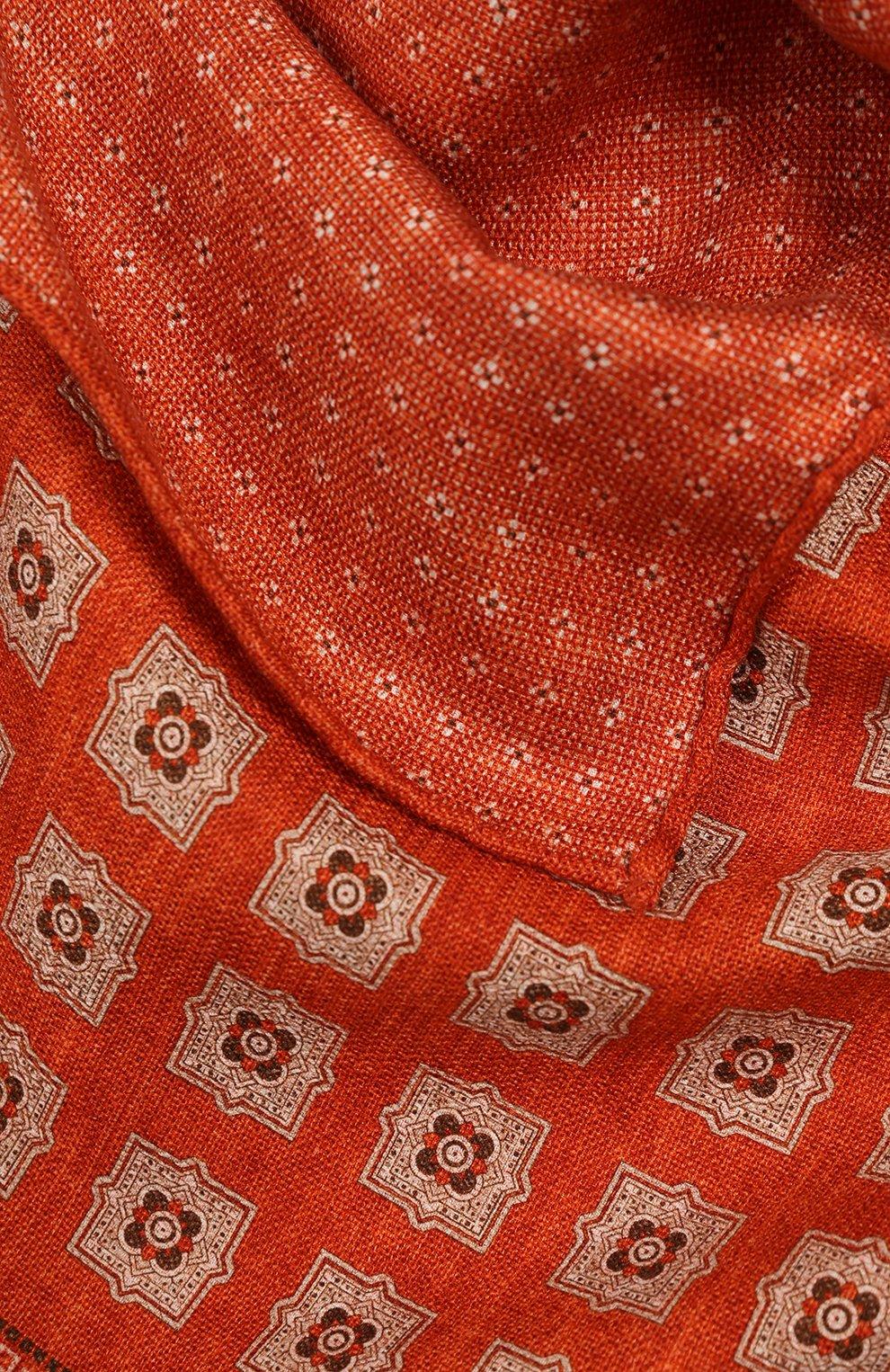 Мужской шелковый платок BRUNELLO CUCINELLI оранжевого цвета, арт. MQ8440091 | Фото 2