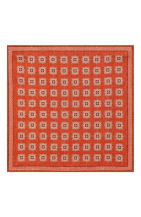 Мужской шелковый платок BRUNELLO CUCINELLI оранжевого цвета, арт. MQ8440091 | Фото 3