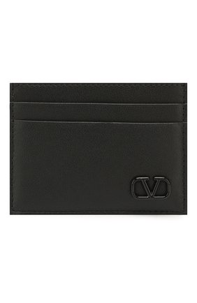Мужской кожаный футляр для кредитных карт valentino garavani VALENTINO черного цвета, арт. TY2P0448/ZQU | Фото 1