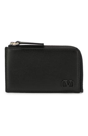Мужской кожаный футляр для кредитных карт valentino garavani VALENTINO черного цвета, арт. TY2P0Q85/ZQU | Фото 1