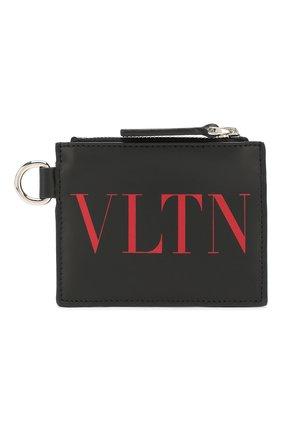 Мужской кожаный футляр для кредитных карт valentino garavani VALENTINO черного цвета, арт. TY2P0R10/JBS | Фото 1