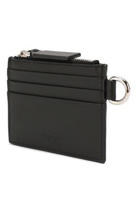 Мужской кожаный футляр для кредитных карт valentino garavani VALENTINO черного цвета, арт. TY2P0R10/JBS | Фото 2