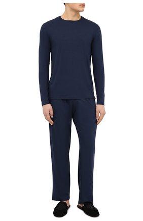 Мужские домашние брюки DEREK ROSE синего цвета, арт. 3558-BASE001 | Фото 2