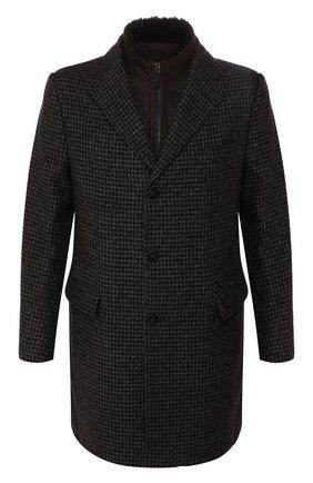 Кашемировое пальто с меховой отделкой | Фото №1