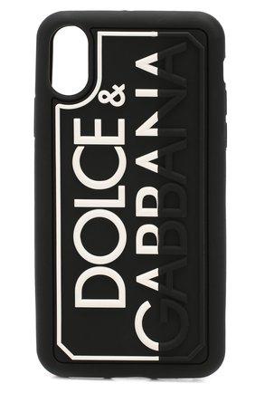 Мужской чехол для iphone x DOLCE & GABBANA черно-белого цвета, арт. BP2418/AJ980 | Фото 1