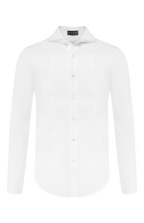 Мужская хлопковая рубашка RALPH LAUREN белого цвета, арт. 790774610 | Фото 1