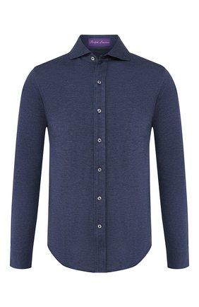 Мужская хлопковая рубашка RALPH LAUREN темно-серого цвета, арт. 790774610 | Фото 1