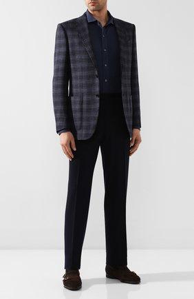 Мужская хлопковая рубашка RALPH LAUREN темно-серого цвета, арт. 790774610 | Фото 2
