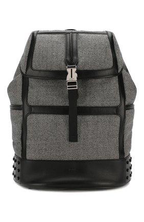 Мужской комбинированный рюкзак TOD'S серого цвета, арт. XBMTDSG0300MRB | Фото 1