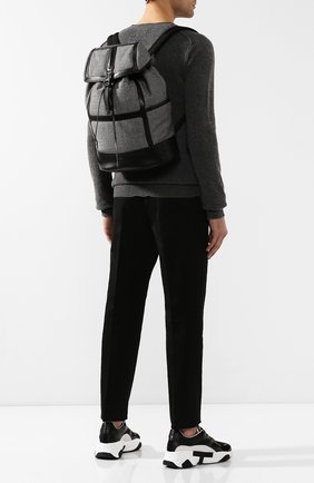 Мужской комбинированный рюкзак TOD'S серого цвета, арт. XBMTDSG0300MRB | Фото 2