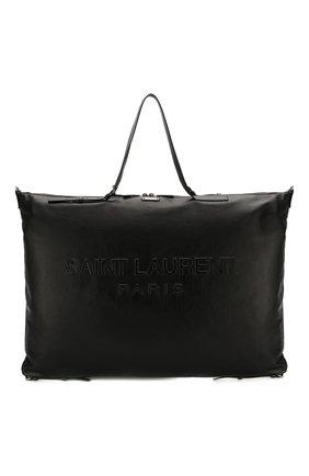 Мужская кожаная дорожная сумка SAINT LAURENT черного цвета, арт. 565736/CWTBD | Фото 1