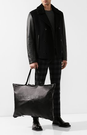 Мужская кожаная дорожная сумка SAINT LAURENT черного цвета, арт. 565736/CWTBD | Фото 2