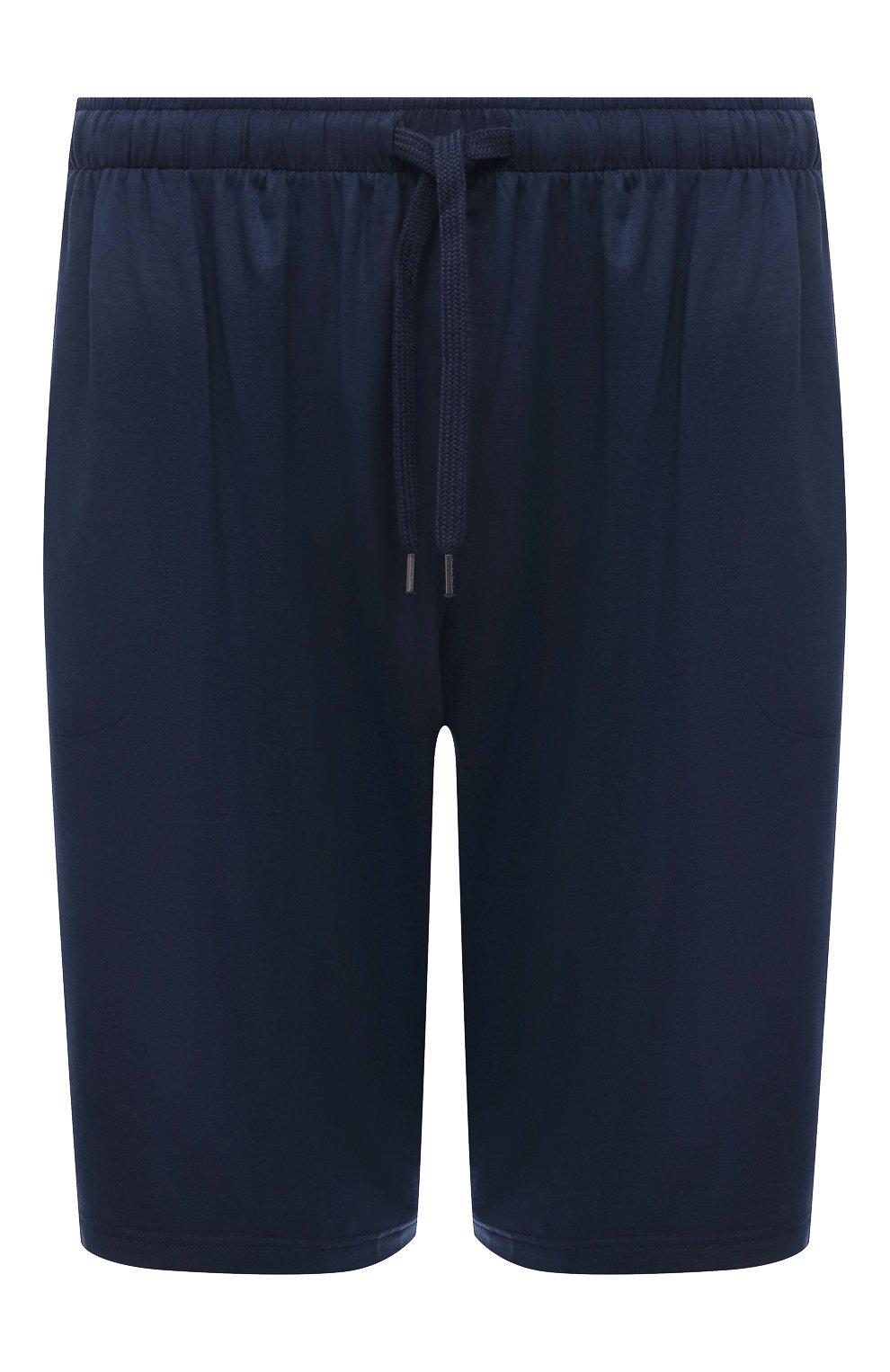 Мужские домашние шорты DEREK ROSE синего цвета, арт. 3559-BASE001 | Фото 1 (Кросс-КТ: домашняя одежда; Материал внешний: Синтетический материал)