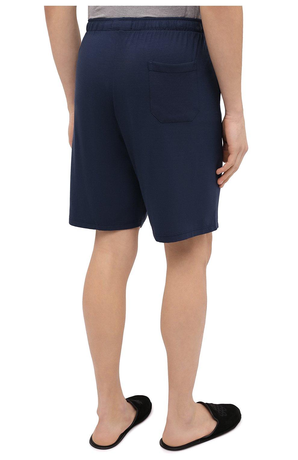 Мужские домашние шорты DEREK ROSE синего цвета, арт. 3559-BASE001 | Фото 4 (Кросс-КТ: домашняя одежда; Материал внешний: Синтетический материал)