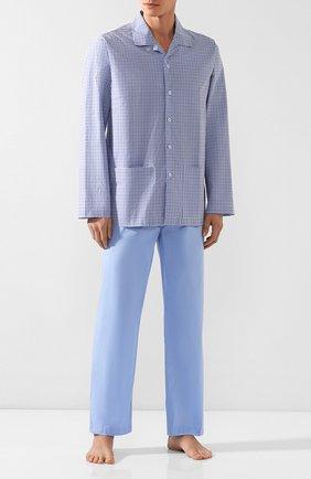 Мужская хлопковая пижама PEROFIL голубого цвета, арт. P3P1066 | Фото 1