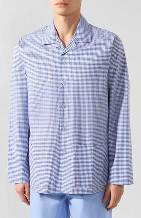 Мужская хлопковая пижама PEROFIL голубого цвета, арт. P3P1066 | Фото 2