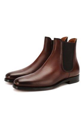 Мужские кожаные челси RALPH LAUREN темно-коричневого цвета, арт. 801103400 | Фото 1