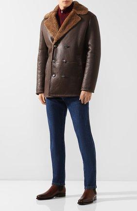 Мужские кожаные челси RALPH LAUREN темно-коричневого цвета, арт. 801103400 | Фото 2