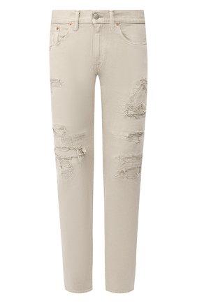 Мужские джинсы RRL светло-бежевого цвета, арт. 782704539 | Фото 1