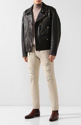 Мужские джинсы RRL светло-бежевого цвета, арт. 782704539 | Фото 2