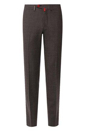 Мужской шерстяные брюки KITON коричневого цвета, арт. UFPP79K01S29   Фото 1