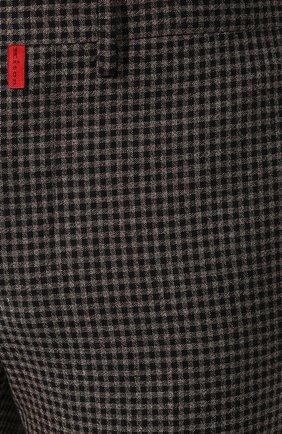 Мужские шерстяные брюки KITON коричневого цвета, арт. UFPP79K01S29   Фото 5