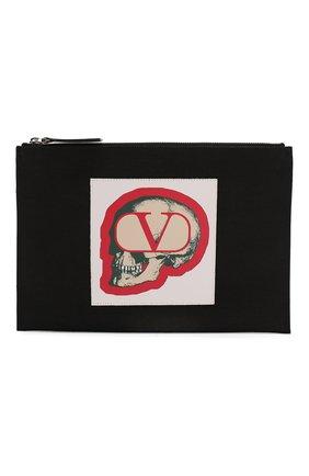 Мужская текстильный клатч valentino garavani x undercover VALENTINO черного цвета, арт. SY0P0R06/QQV | Фото 1