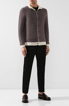 Мужские кожаные пенни-лоферы TOD'S бордового цвета, арт. XXM80B0BR30LYG | Фото 2