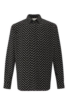Мужская шелковая рубашка SAINT LAURENT черного цвета, арт. 564172/Y272V | Фото 1