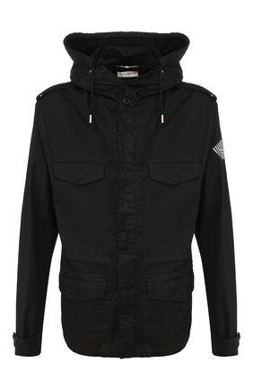Мужская хлопковая куртка SAINT LAURENT черного цвета, арт. 581788/Y153W | Фото 1