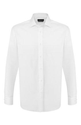Мужская хлопковая сорочка RALPH LAUREN белого цвета, арт. 791530486 | Фото 1