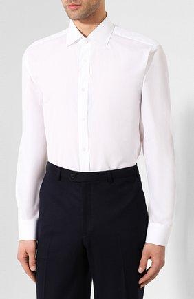 Мужская хлопковая сорочка RALPH LAUREN белого цвета, арт. 791530486   Фото 3