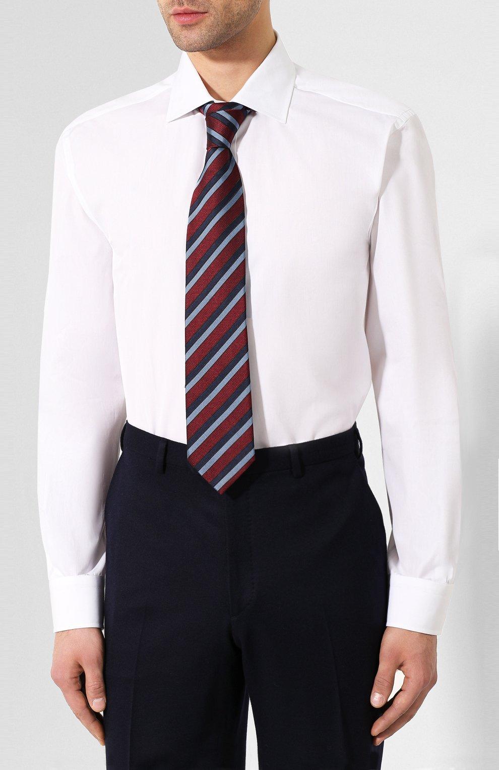Мужская хлопковая сорочка RALPH LAUREN белого цвета, арт. 791530486   Фото 4