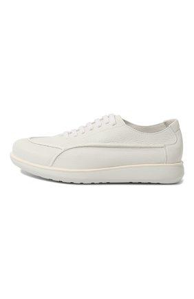 Мужские кожаные кроссовки GIORGIO ARMANI белого цвета, арт. X2C526/XF224 | Фото 4