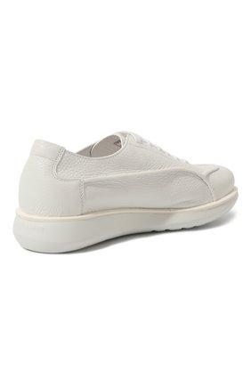 Мужские кожаные кроссовки GIORGIO ARMANI белого цвета, арт. X2C526/XF224 | Фото 5