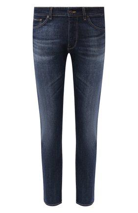 Мужские джинсы BOSS синего цвета, арт. 50421082   Фото 1
